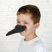 Карнавальный нос ворона, поролон, на резинке