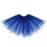 Карнавальная юбка 'Блеск', 3-х слойная, 4-6 лет, цвет синий