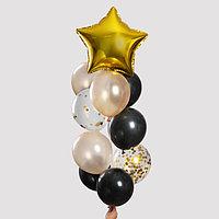 Набор шаров для украшения праздника 'Яркий', латекс, фольга, с конфетти, набор 10 шт.