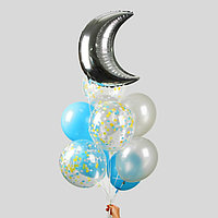 Фонтан из шаров 'Блеск ночи', с конфетти, латекс, фольга, 10 шт.