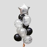 Фонтан из шаров 'Стильный' с конфетти, латекс, фольга, набор 10 шт.