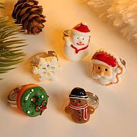 Кольцо детское новогоднее 'Сказка', форма МИКС, цветное