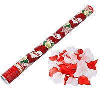 Пневмохлопушка 'Любовь', лепестки роз, красные и белые, 60 см (комплект из 12 шт.)
