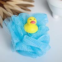 Игрушка-мочалка для купания, детская 'Уточка'
