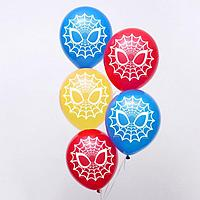 Воздушные шары 'Spider-man', Человек-паук, 12 дюйм (набор 5 шт)