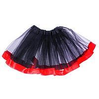 Карнавальная юбка, трехслойная, цвет чёрно-красный