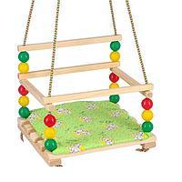 Подвесное кресло для игровой площадки с мягкой сидушкой, 'Ветерок', сиденье 34х28 см