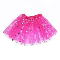 Карнавальная юбка 'Звёздочки', цвет розовый