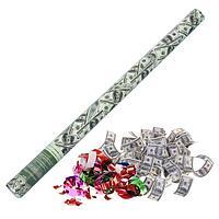 Пневмохлопушка 'Доллар', серпантин, бумага, доллары, 80 см (комплект из 12 шт.)