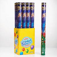 Пневмохлопушка поворотная 'С Новым годом! Куранты', конфетти, фольга-серпантин, 60 см (комплект из 12 шт.)