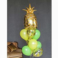 Фонтан из шаров 'Гавайская вечеринка-2', с конфетти, латекс, фольга, 10 шт.