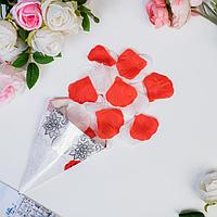 Лепестки роз, красно-белый, 22 х 12 см