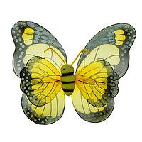 Карнавальные крылья 'Бабочка', для детей, цвет жёлтый