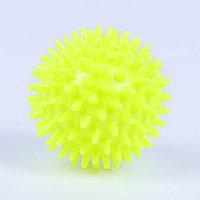 Мяч-ёжик 'МалышОК!', диаметр 65 мм, цвет жёлтый, в пакете