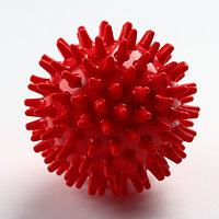 Мяч-ёжик 'МалышОК!', диаметр 65 мм, цвет красный, в пакете