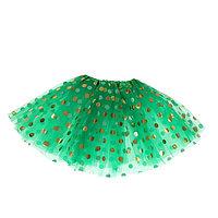 Карнавальная юбка 'Горох', 3-х слойная, 4-6 лет, цвет зелёный