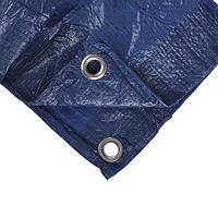 Тент защитный, 3 x 2 м, плотность 60 г/м, люверсы шаг 1 м, голубой