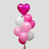 Фонтан из шаров 'Это любовь', латекс, фольга, 10 шт.
