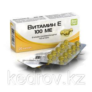 Витамин Е, 20 капсул * 250 мг (дополнительный источник витамина Е)
