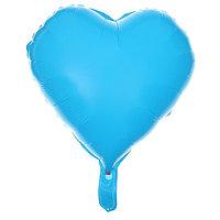 Шар полимерный 18' 'Сердце неон', цвет синий (комплект из 5 шт.)