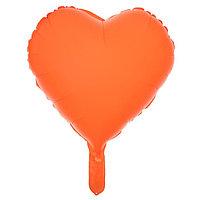 Шар полимерный 18' 'Сердце неон', цвет оранжевый (комплект из 5 шт.)