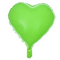 Шар полимерный 18' 'Сердце неон', цвет зеленый (комплект из 5 шт.)