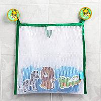 Наклейки в ванную из EVA 'Африка' + сетка для хранения игрушек на присосках