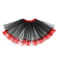 Карнавальная юбка 'Кокетка', 2-х слойная, 4-6 лет, цвет чёрный