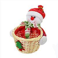 Конфетница 'Снеговик в колпачке', с шарфом, 100 г