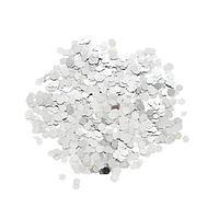 Наполнитель для шара 'Конфетти шестиугольник', 3 мм, 10 г, цвет серебряный