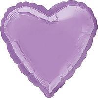 Шар фольгированный 18' 'Сердце', цвет лавандовый (комплект из 5 шт.)