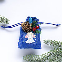 Подвеска-мешочек на ёлку 'Счастливого Рождества!'