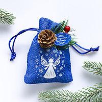 Подвеска-мешочек на ёлку 'Снежный ангел'