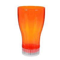 Стакан с подсветкой, цвет оранжевый