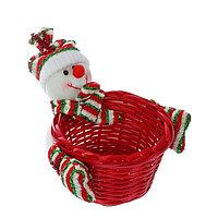 Конфетница 'Снеговичок в полосатой шапочке', вместимость 200 г