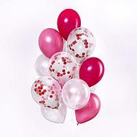 Букет из шаров 'Воображение', латекс, с конфетти, набор 15 шт. + дождевик в подарок