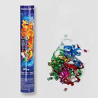 Пневмохлопушка поворотная 'С Новым годом!', конфетти, фольга-серпантин, 30 см (комплект из 12 шт.)