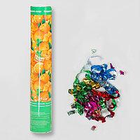 Пневмохлопушка поворотная 'С Новым годом! Мандаринки', конфетти, фольга-серпантин, 30 см (комплект из 12 шт.)