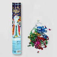 Пневмохлопушка поворотная 'С Новым годом! Дед Мороз', конфетти, фольга-серпантин, 30 см (комплект из 12 шт.)