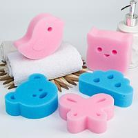 Детская губка для купания детей МИКС