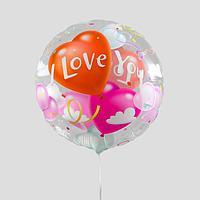 Шар полимерный 18' 'Я люблю тебя', нежные сердца, круг (комплект из 5 шт.)