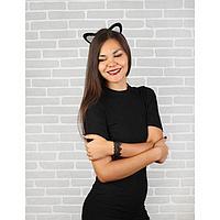 Карнавальный костюм взрослый 'Модная кошечка', ободок, ушки, браслет