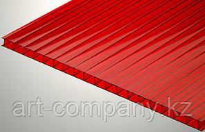 Поликарбонат 8мм Полигаль - Восток (Израиль-Россия) Стандарт 2.10м*6м, красный