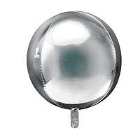 Шар фольгированный 32' 'Сфера', цвет серебряный (комплект из 5 шт.)