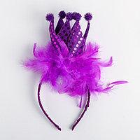 Карнавальный ободок 'Корона', цвета МИКС