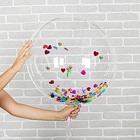Шар полимерный 10' 'Сфера' + сердечки-конфетти