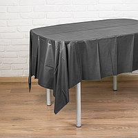 Скатерть 'Праздничный стол', 137х183 см, цвет чёрный