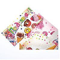 Конверт для денег 'Поздравляю' пирожные, мороженое (комплект из 10 шт.)