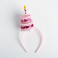 Карнавальный ободок 'С днём рождения', цвета МИКС