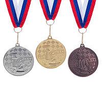 Медаль тематическая 'Шахматы', серебро, d4 см